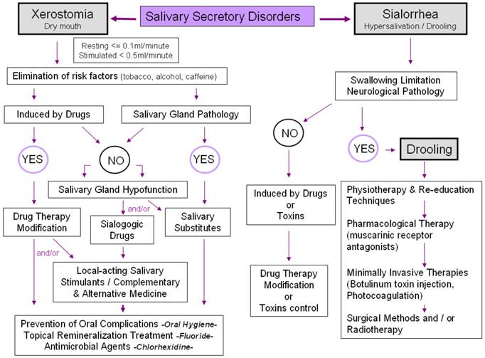 Salivary Secretory Disorders, Inducing Drugs, and Clinical